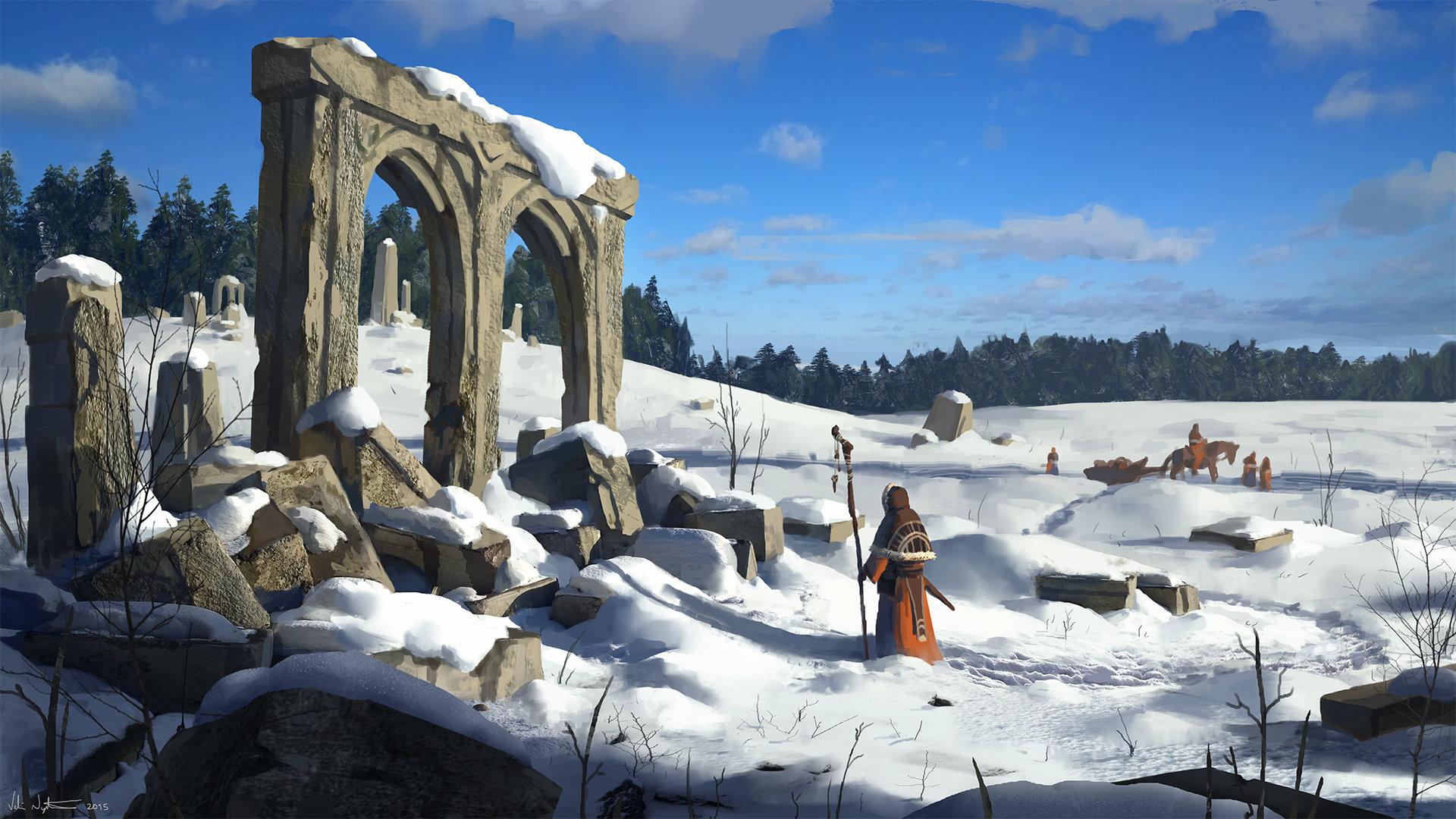 Veli nystrom snowy ruins