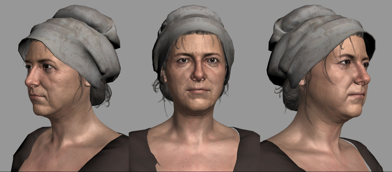 Head modelling and texturing