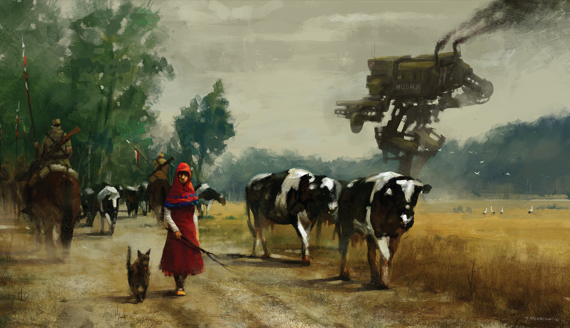 Jakub rozalski 1920 on the road 70na50small