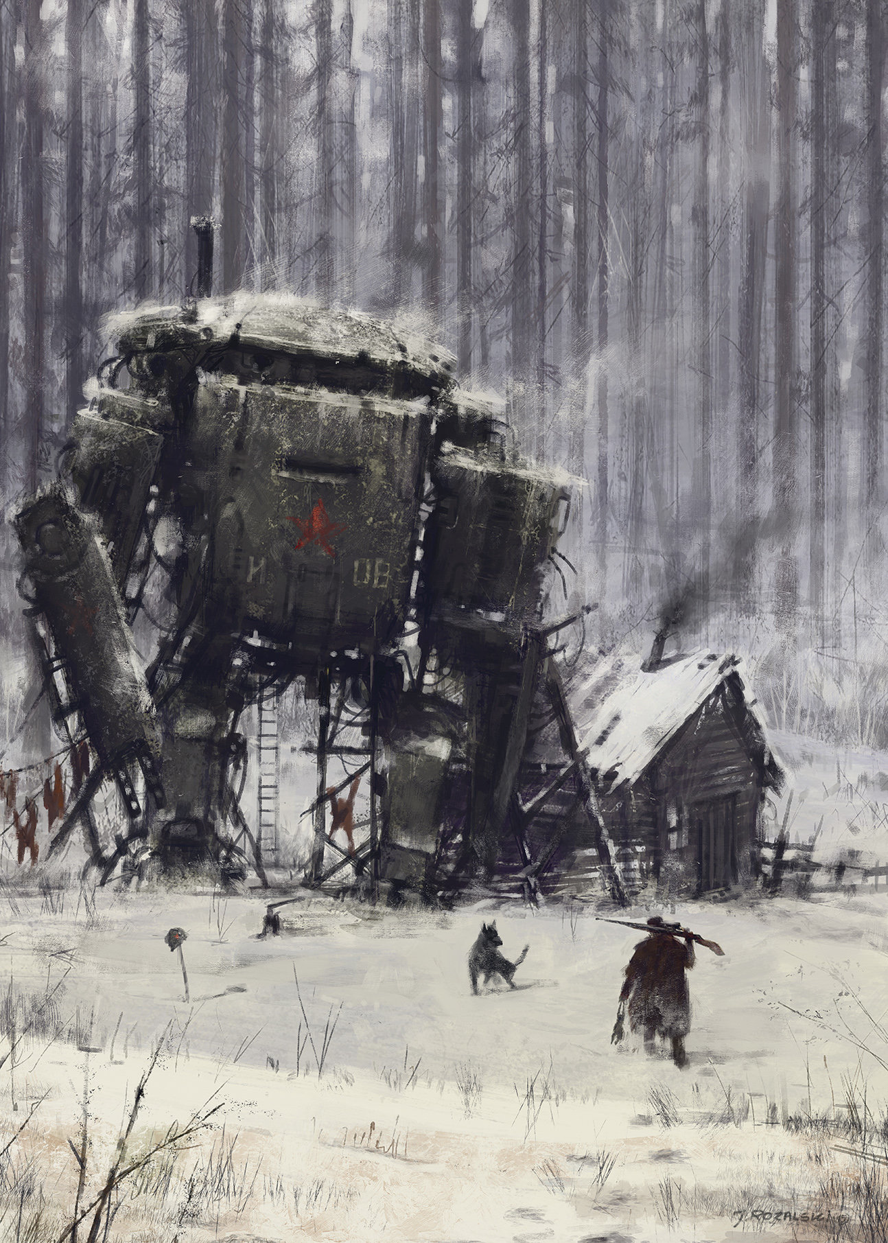 Jakub rozalski 1920 retired veteran 70na100small
