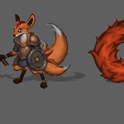 Travis lacey fauxling cartoon concept art fox design digital illustration