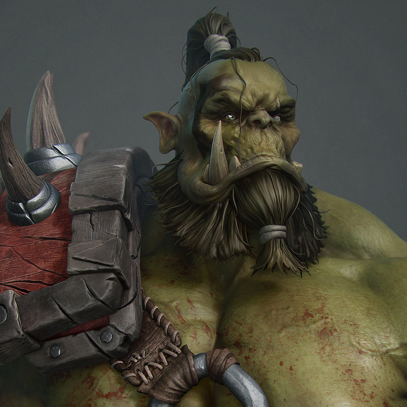 Blizzard's Orc fan art