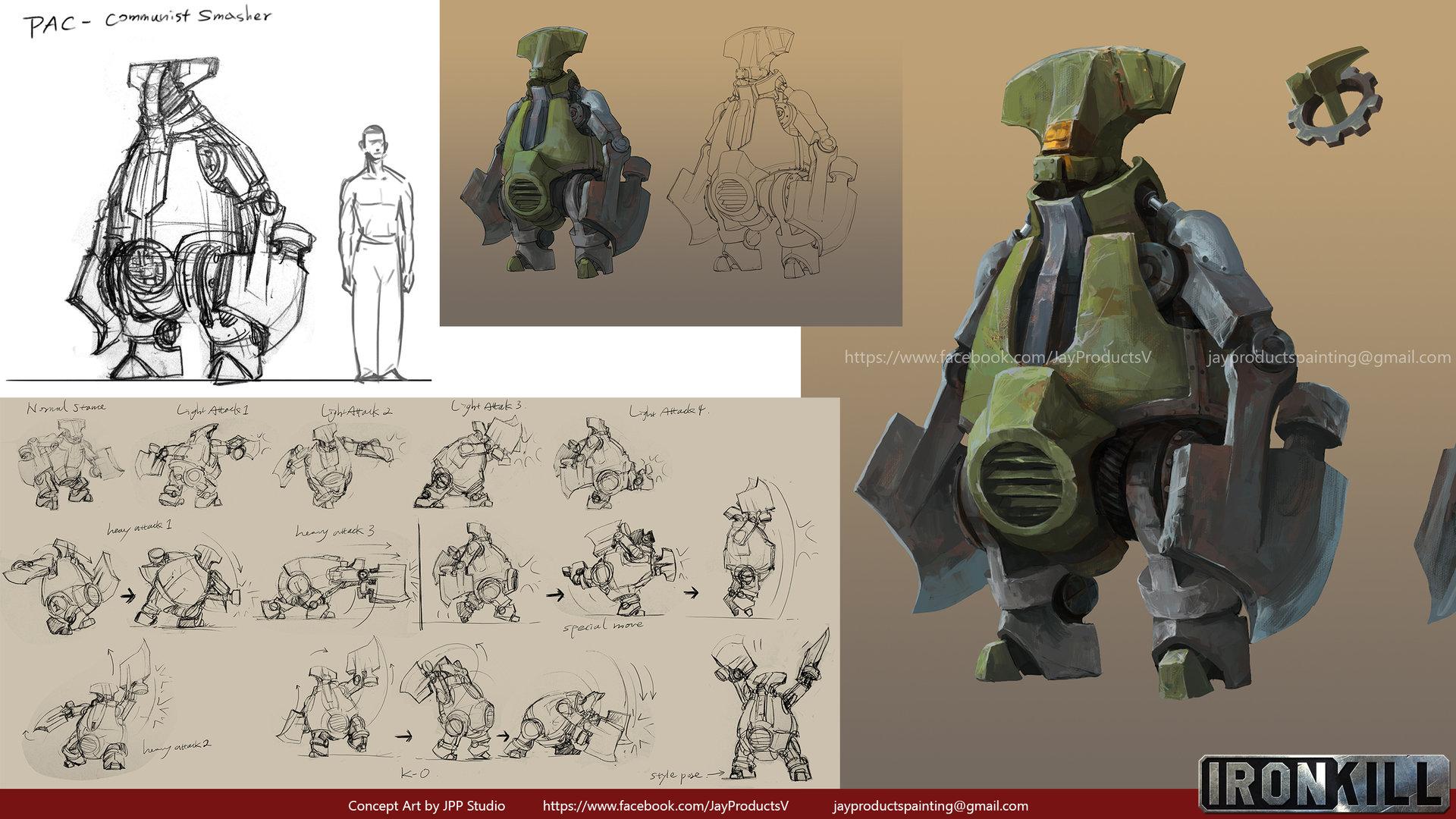 Game Character Design Apps : Artstation ironkill app game artwork the robot smasher concept