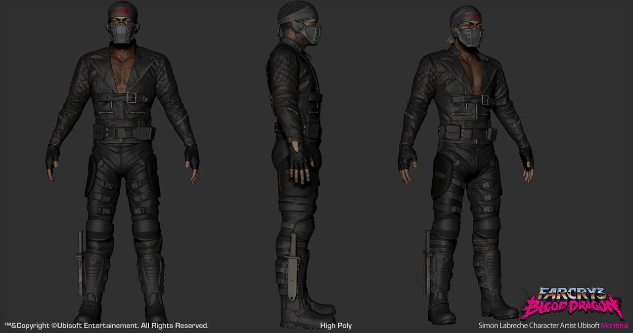 Artstation Far Cry 3 Blood Dragon Spider Simon Labreche