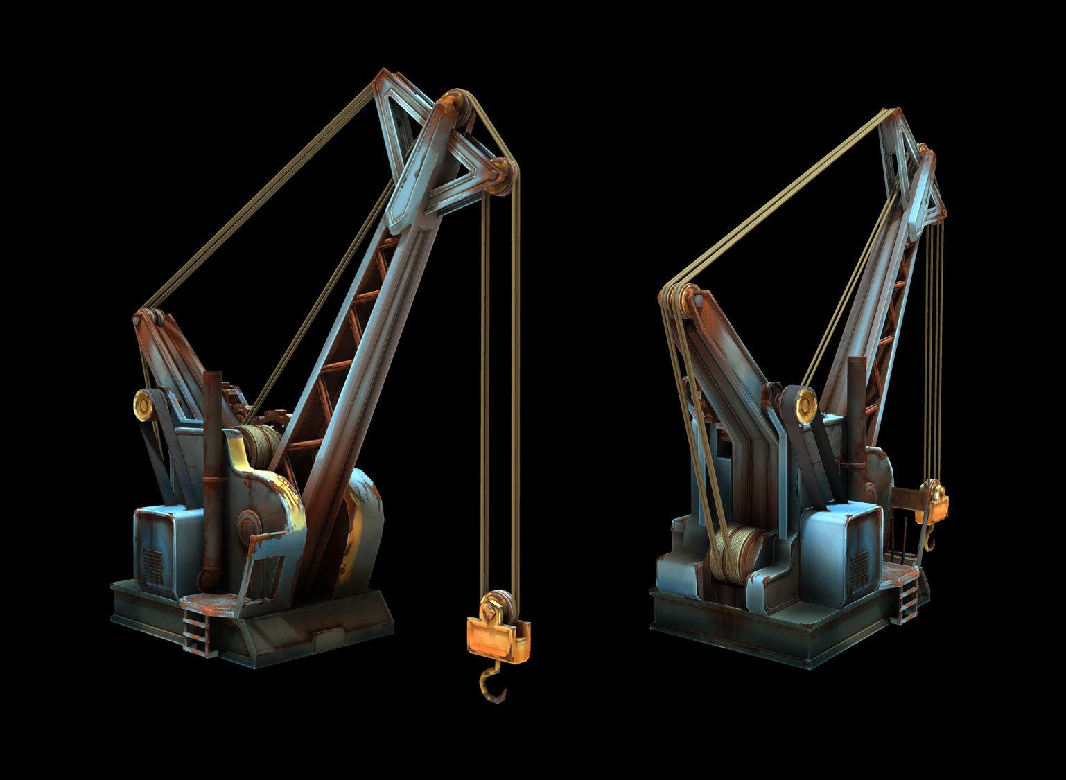 Crane model by Benjamin Sauder and Johannes Figlhuber, Concept by Julius Brockelmann