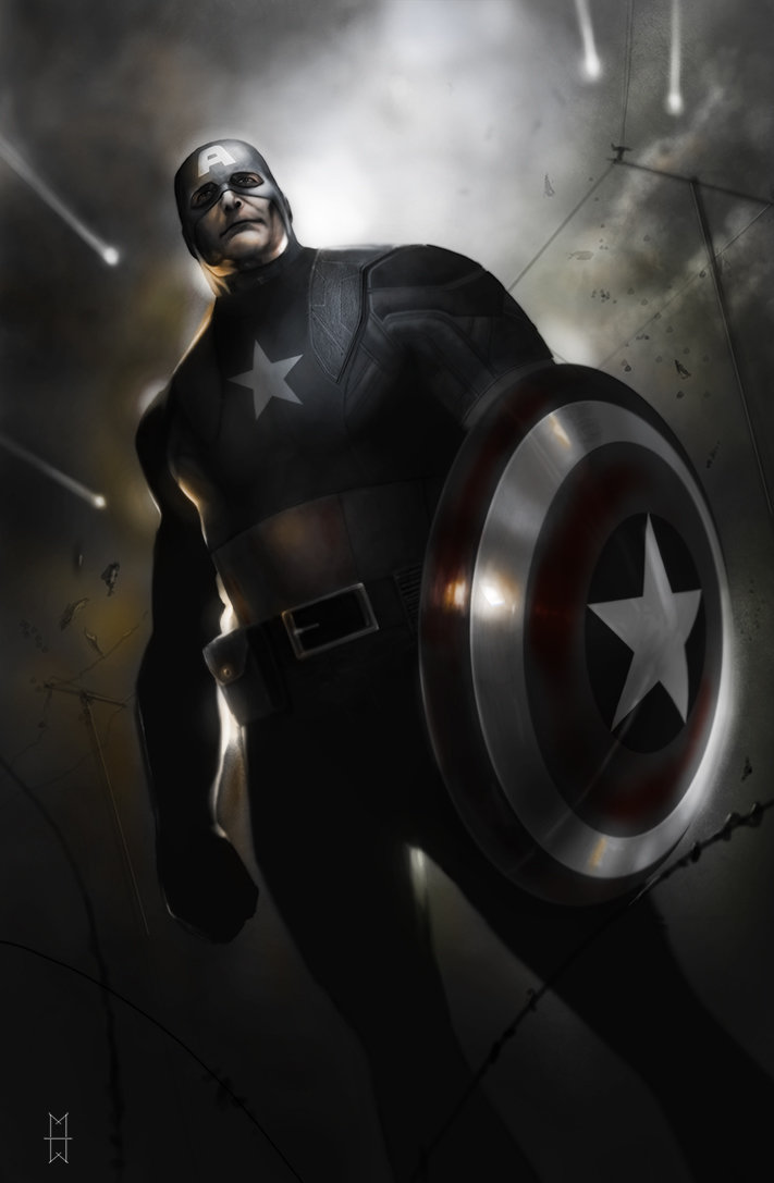 Max moda art capitan america war color