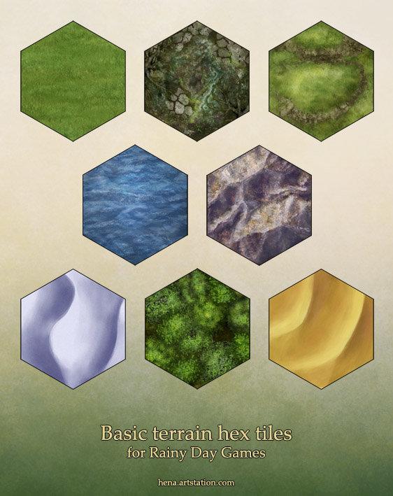 Basic terrain tiles