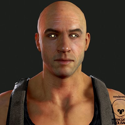 Real-time Riddick model done for Fallout  New Vegas mod