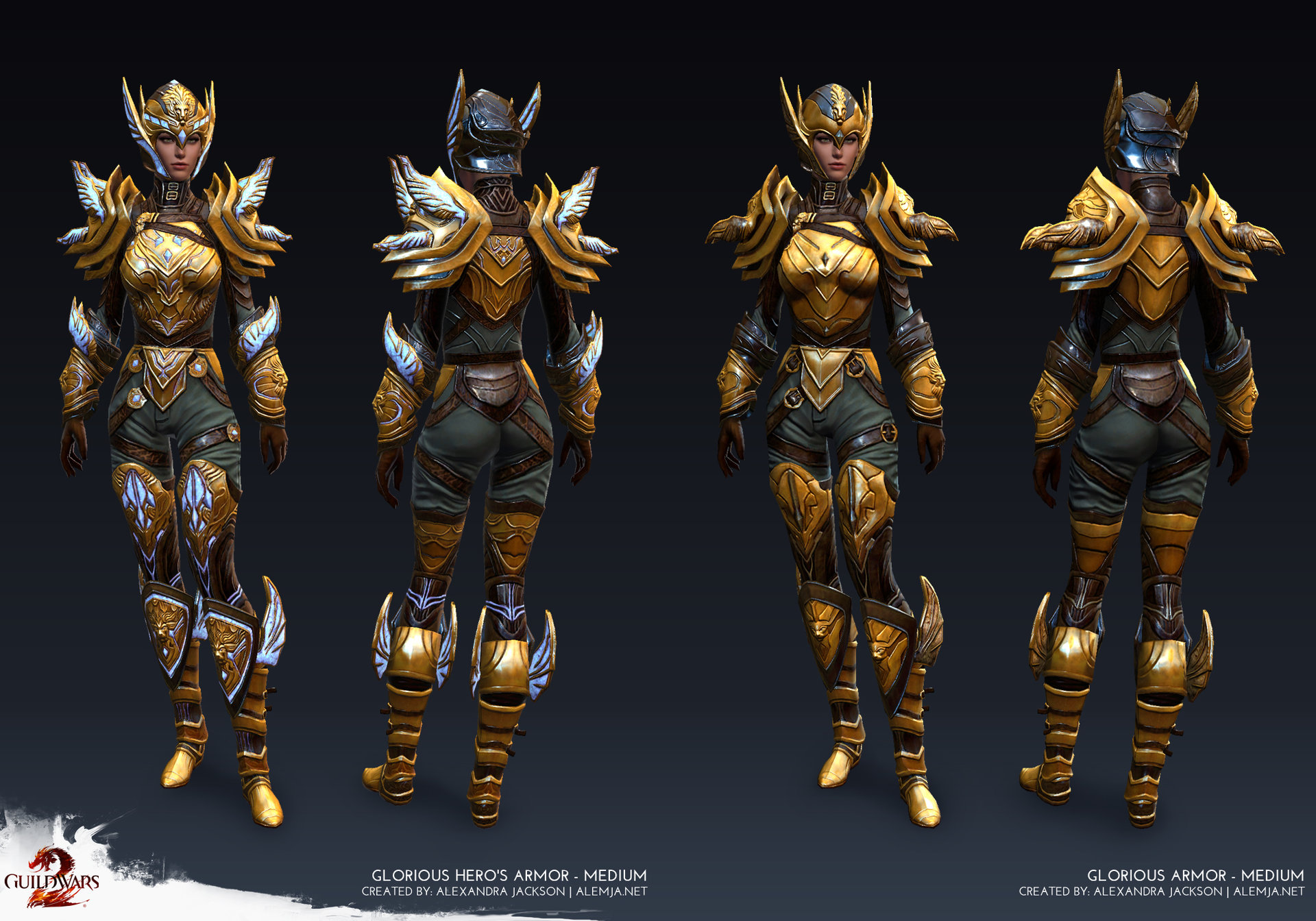 Guild Wars 2 - Medium Female Glorious Armor