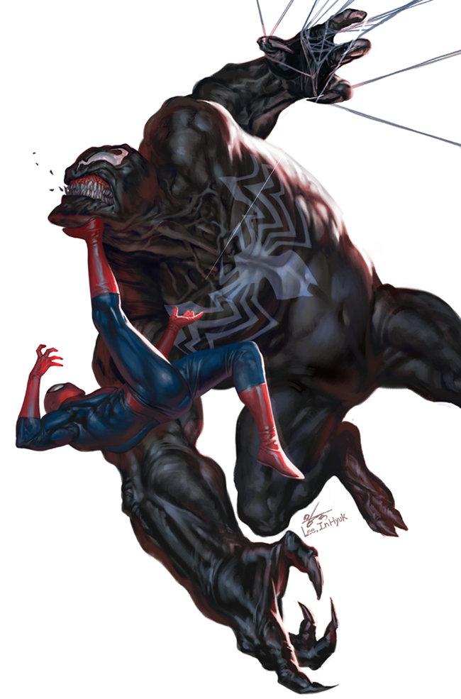 ArtStation - Venom vs Spider-Man , InHyuk Lee