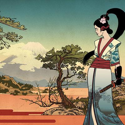 Martin plsko hokusai geisha by burningflag d596ufy