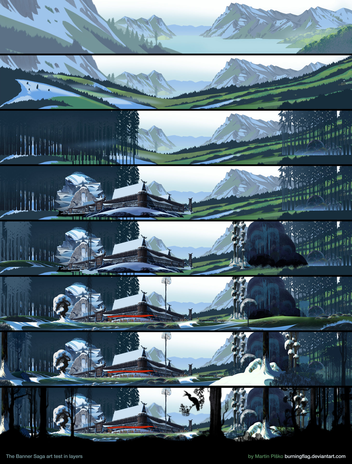 Martin plsko banner saga art test in layers by burningflag
