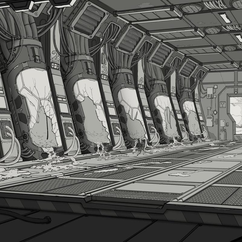 Sci-fi Horror - Main Linework