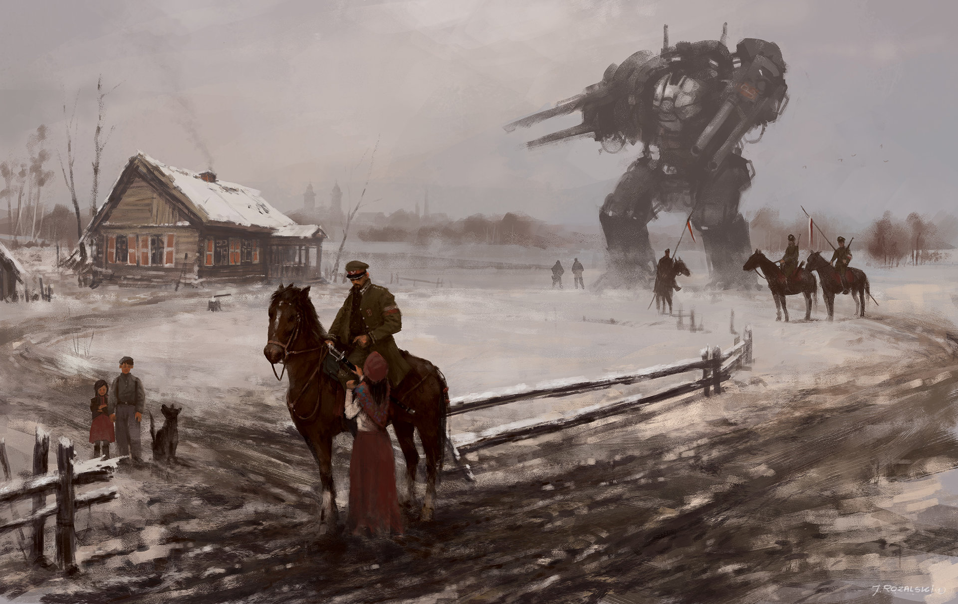 Jakub rozalski 1920 farewell 110x70small