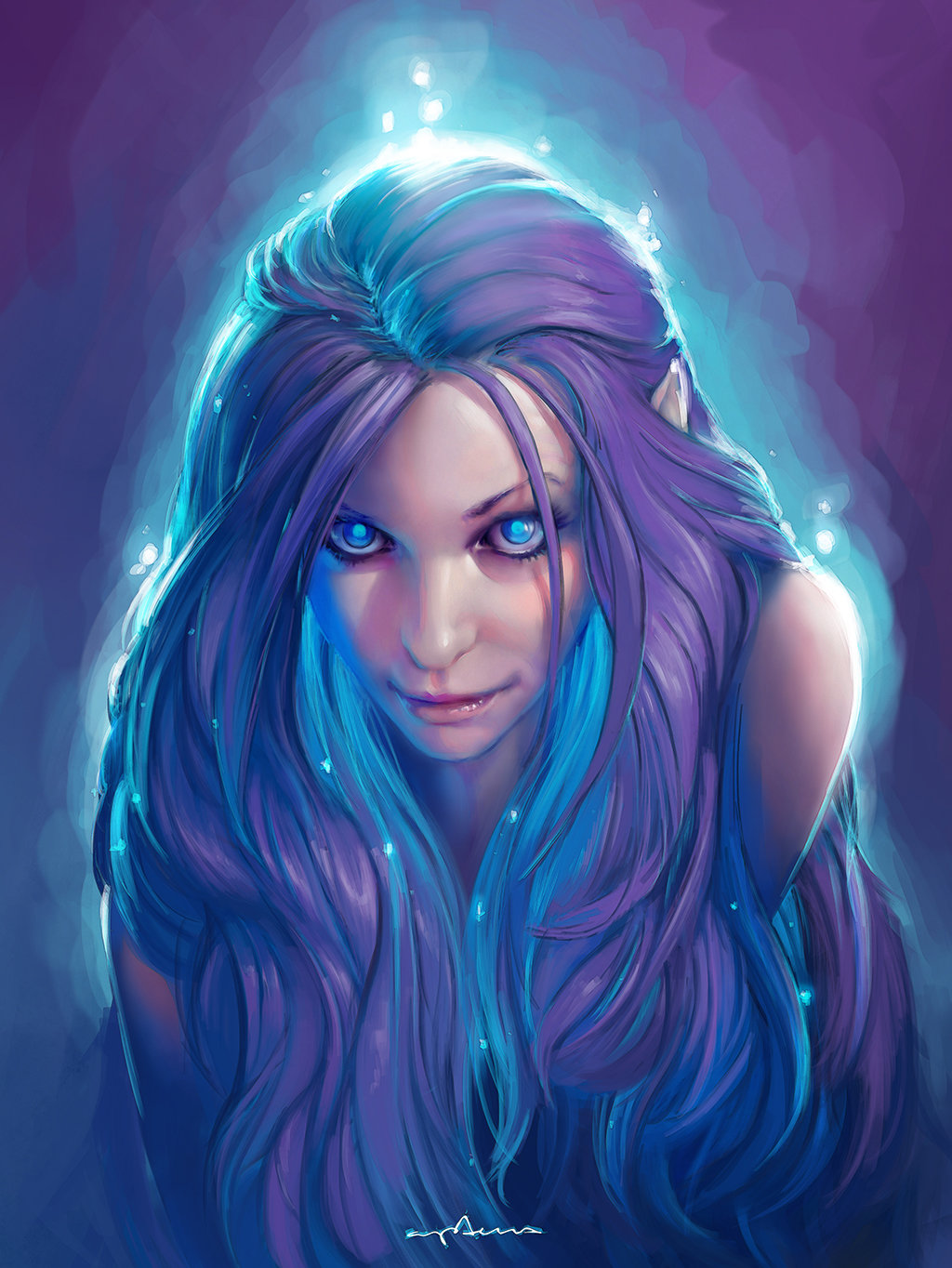 women fantasy eyes blue-#26