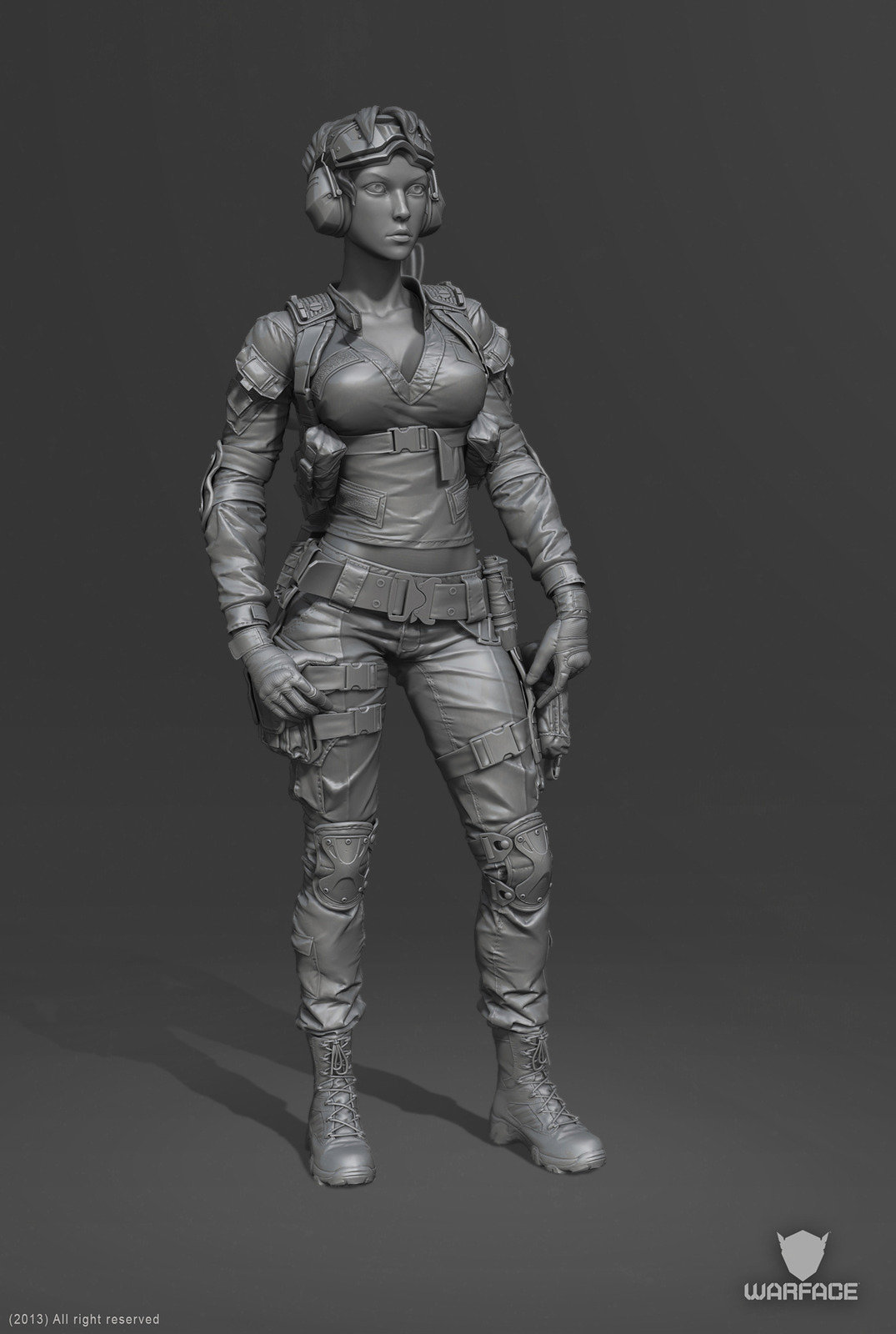 3d Models For Poser And Daz Studio: 3d Model For Crytek (engineer Soldier), Denis