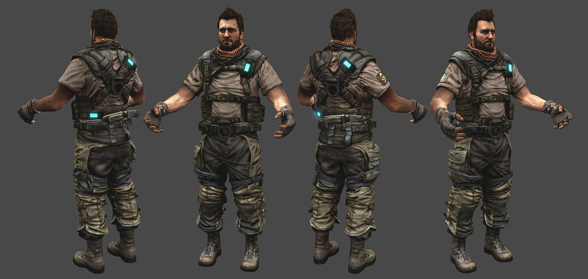 Rudy massar killzone 3 isa dog soldier realtime mesh by rudy massar