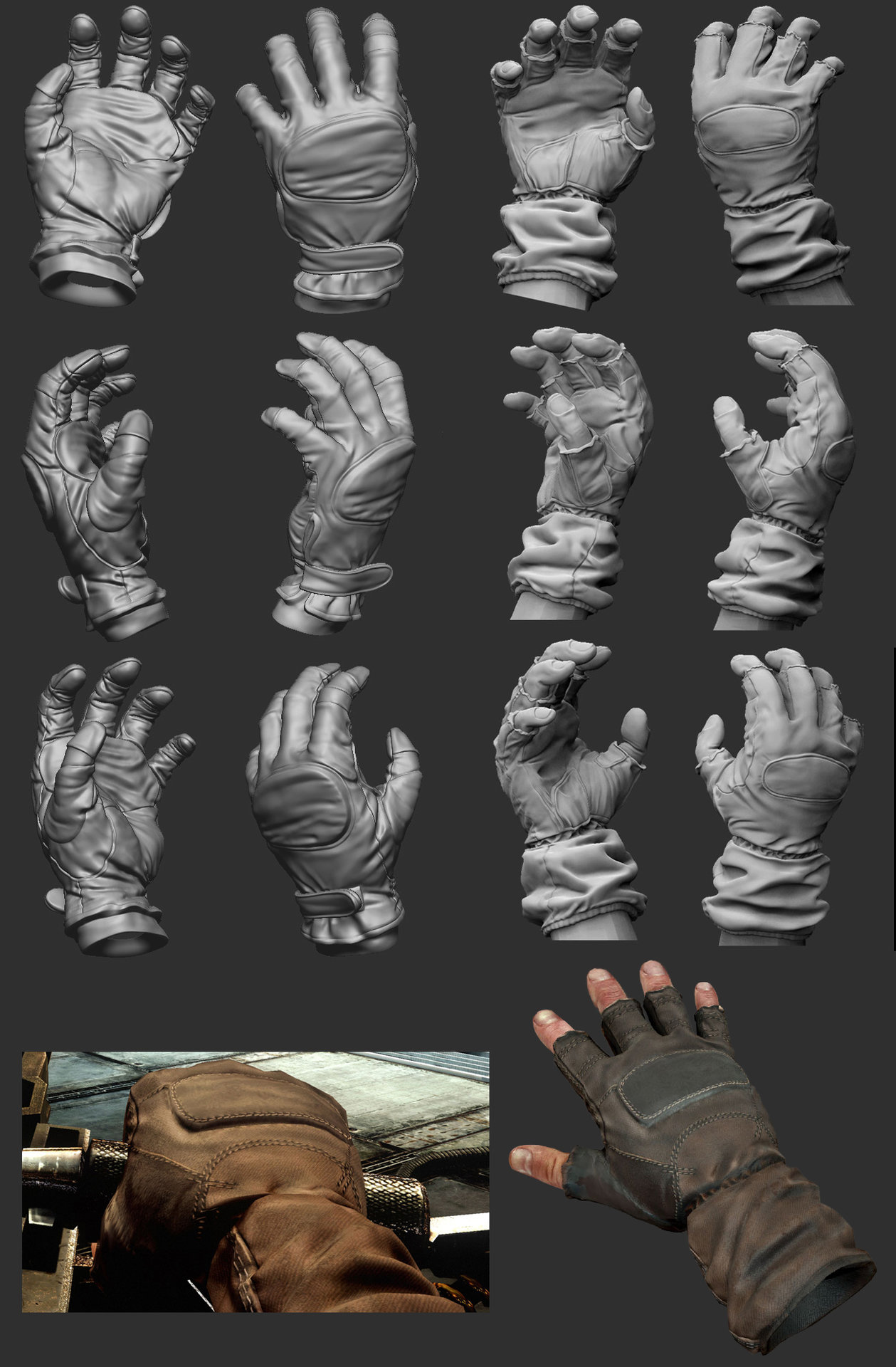 Rudy massar killzone 3 isa gloves zbrush sculpt
