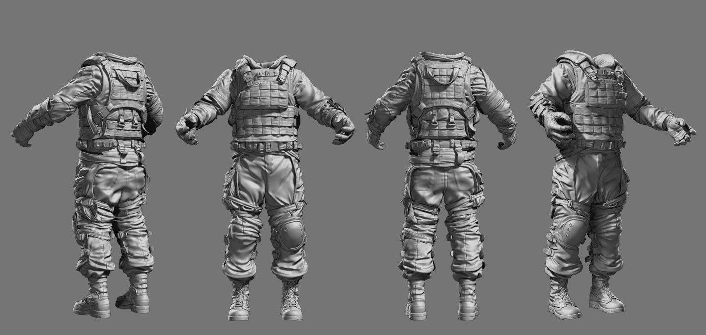 Rudy massar killzone 3 isa soldier zbrush sculpt