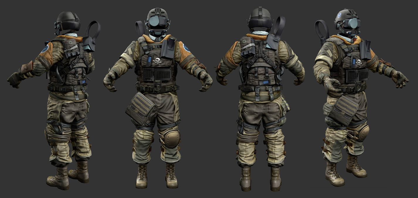 Rudy massar killzone 3 isa soldier realtime mesh