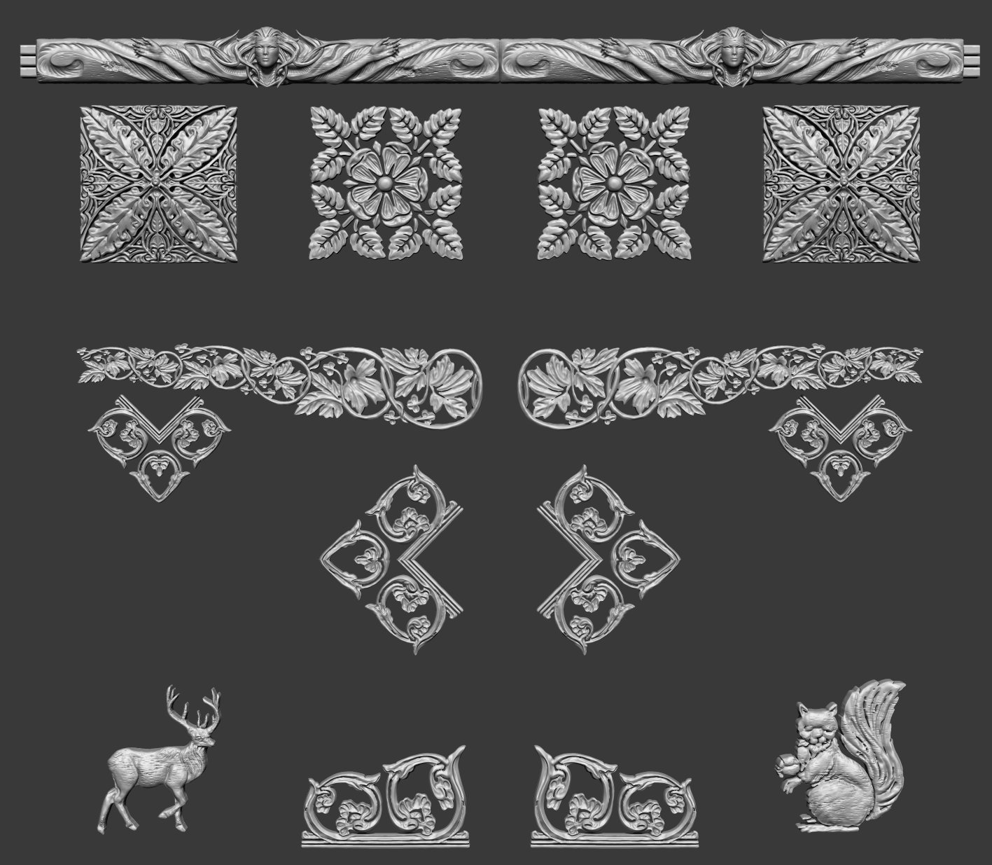 Smaller Carving Elements