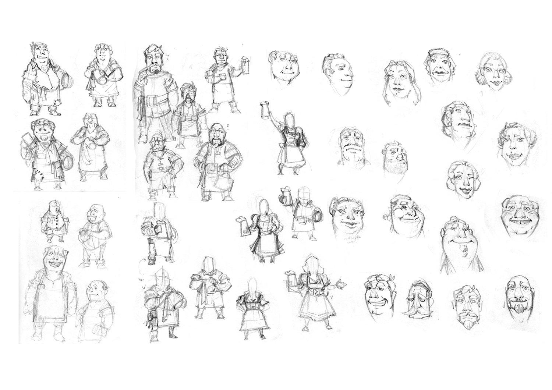 initial development sketches