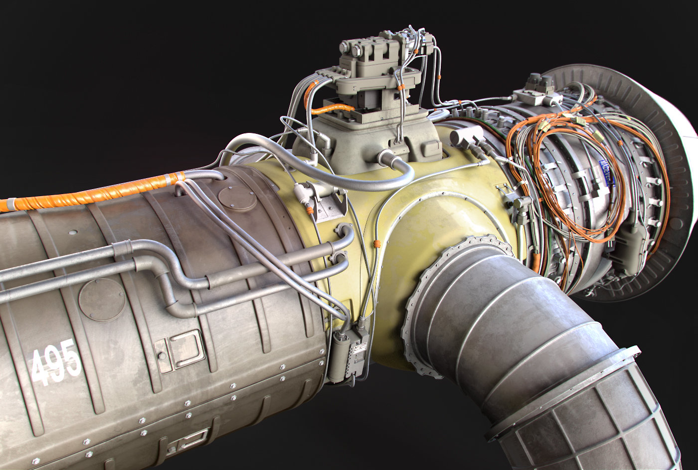 Jet Engine Design -ZBrush 4R7 Beta