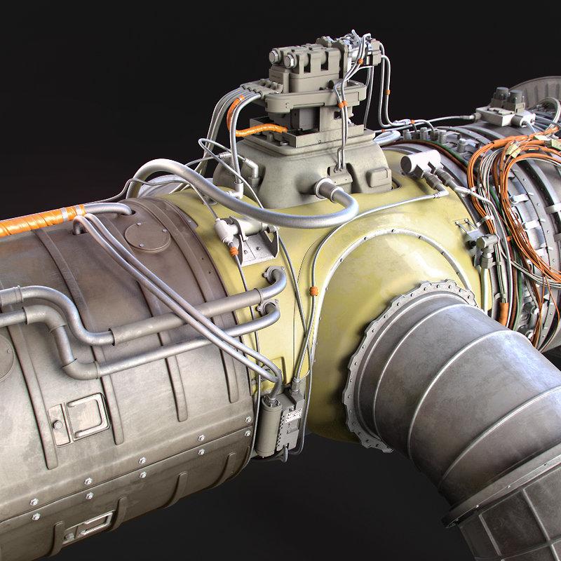 Jet Engine Design -ZBrush 4R7 Beta
