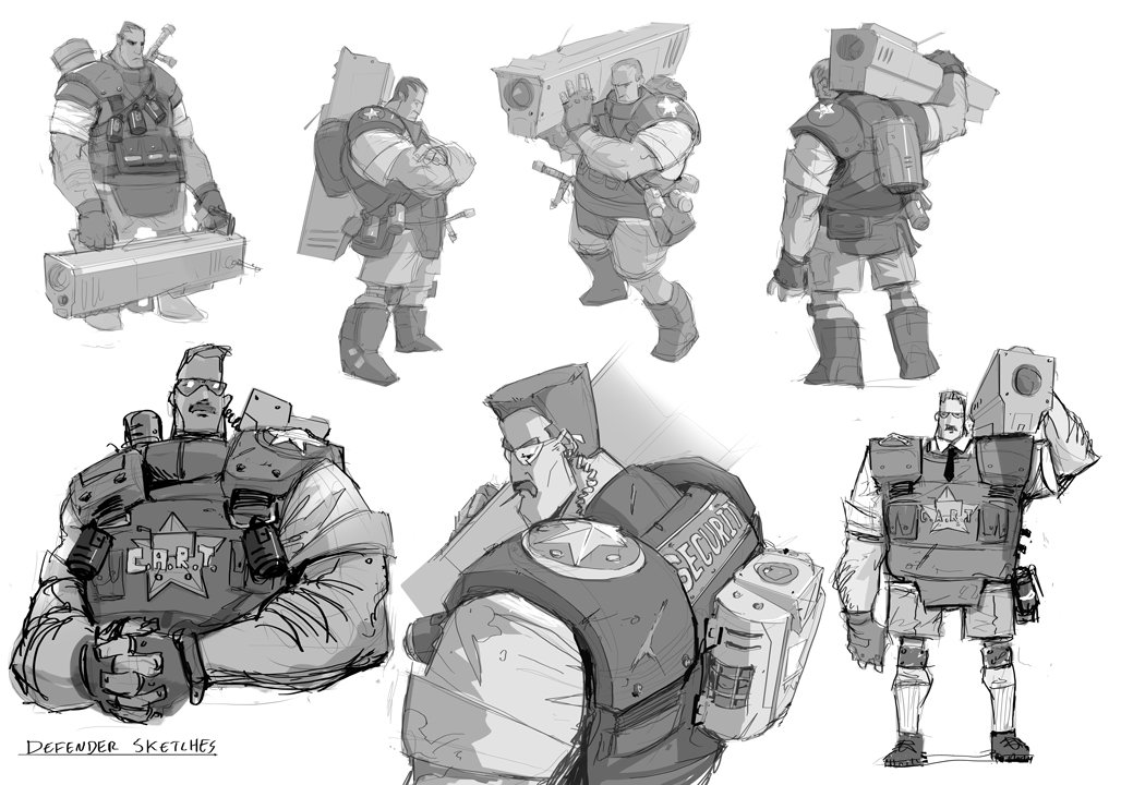 Dylan scher defendersketches