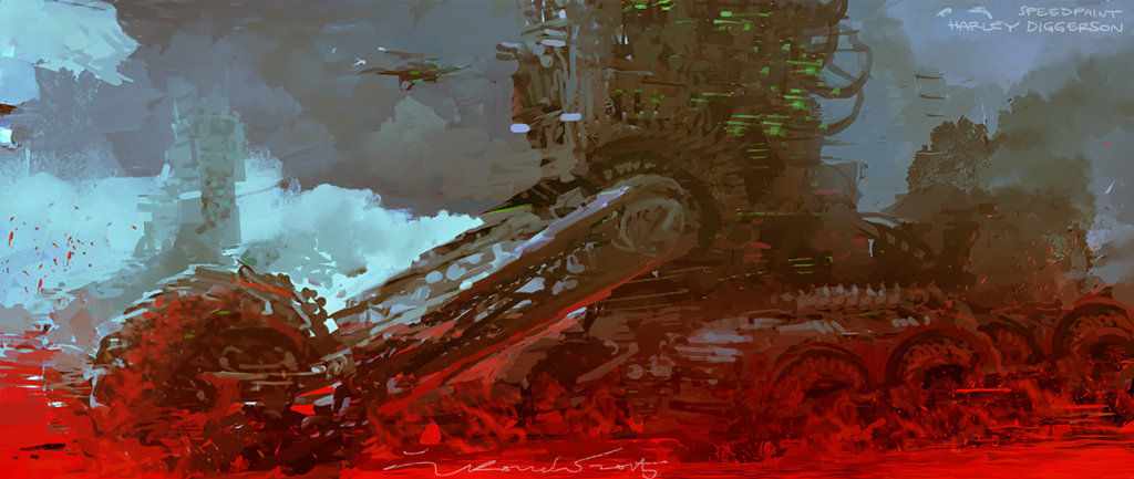 A mean machine themed speedpainting