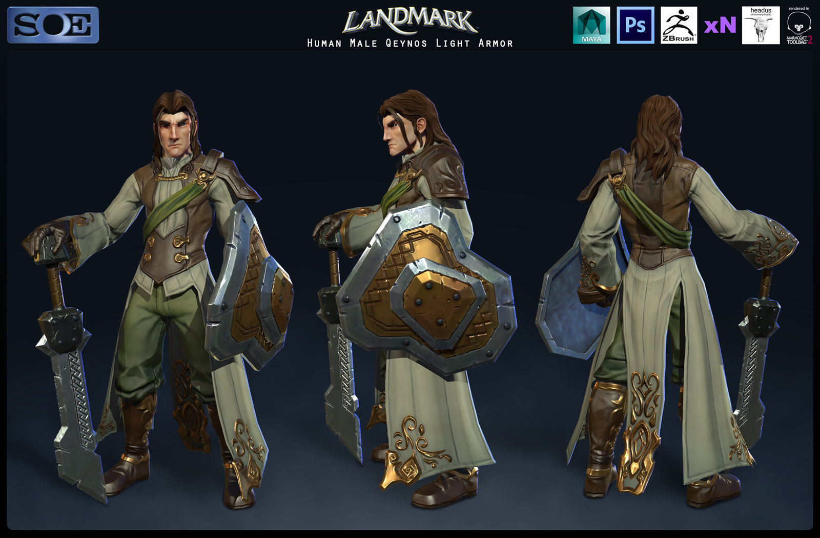 Human Male Qeynos Light Armor