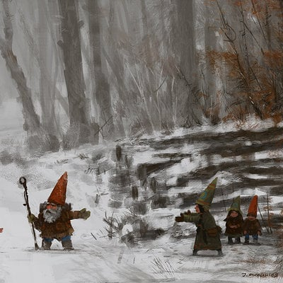 Jakub rozalski warrior pose big