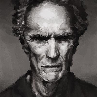 Rodrigo da costa takehara clint eastwood portrait study