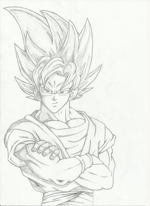 Artstation Goku Super Saiyan 2 Sketch Filip Pozgajcic
