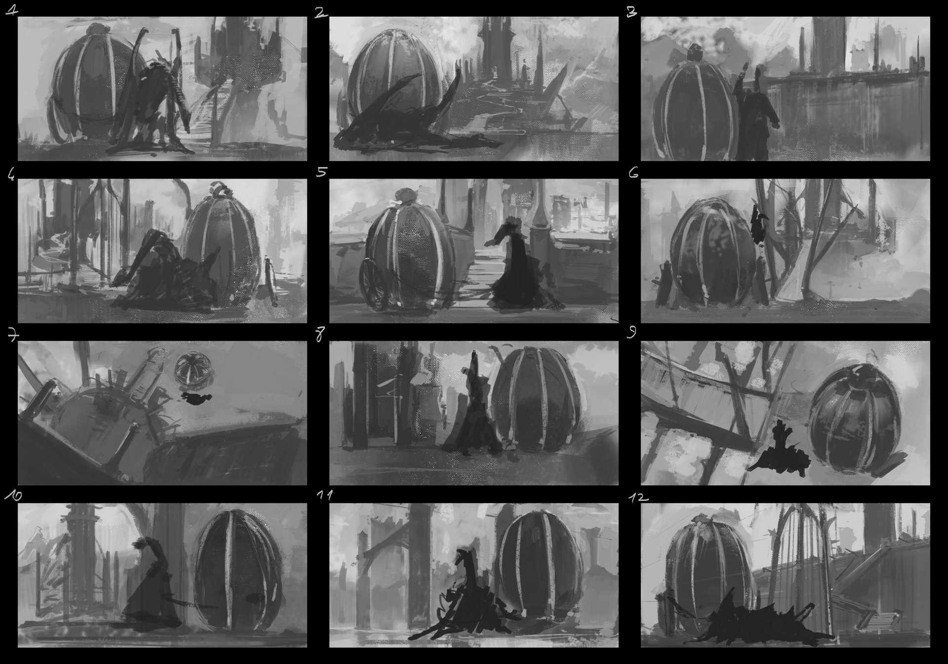 Thumbnails, second set, this time I went for a Gothic style (which eventually became fantasy but oh well..^^;)