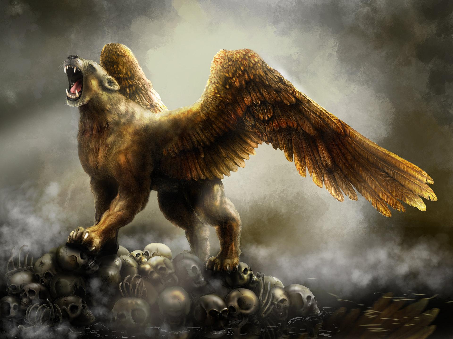 картинки львов с крыльями стараюсь