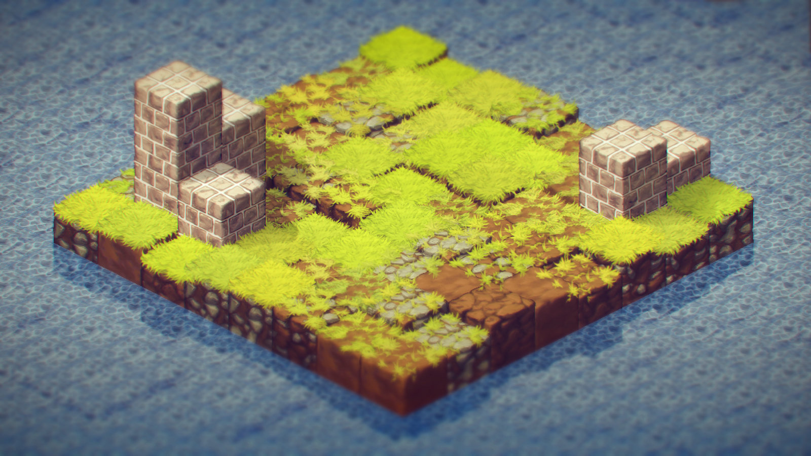 Quick post processing of an example world with overlays.