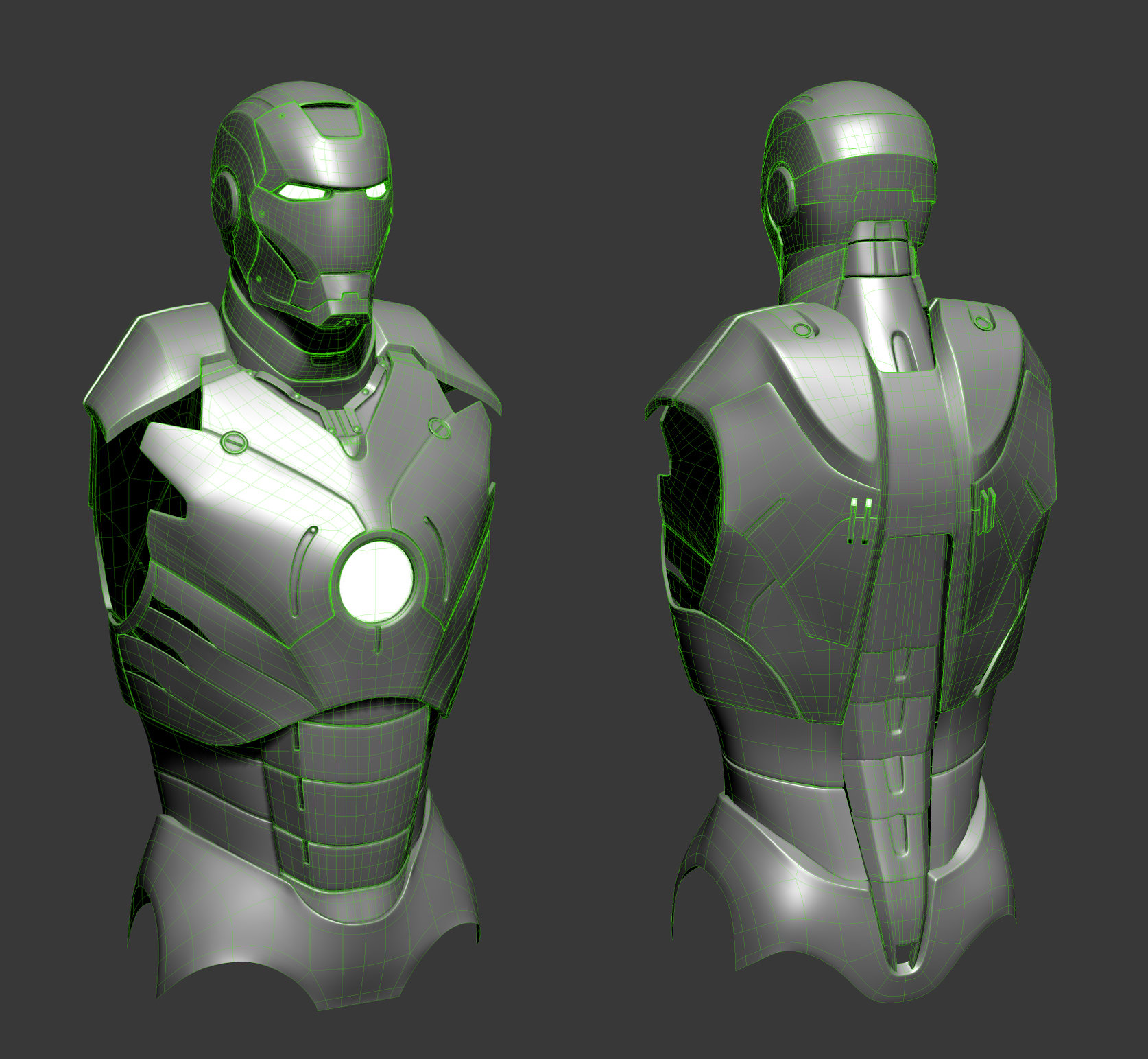 3ds max viewport (wires)
