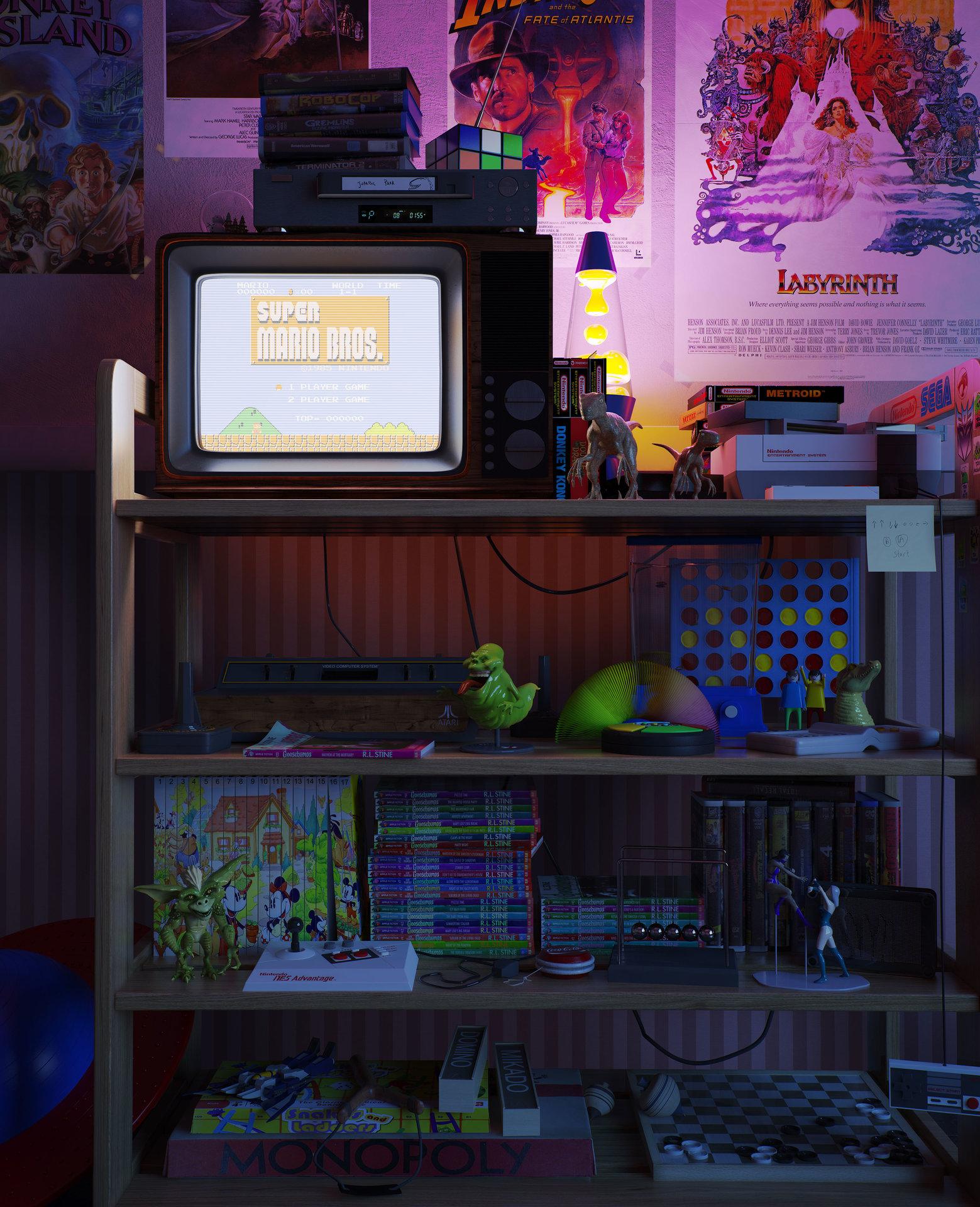 NOSTALGIC BEDROOM. ArtStation   NOSTALGIC BEDROOM   ngelo Fernandes