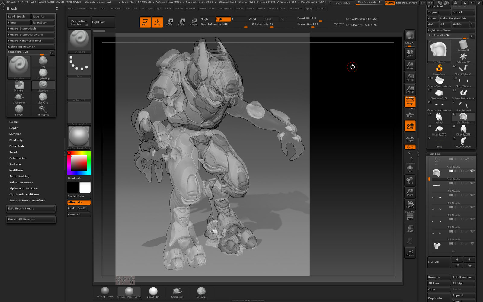 Making sure pieces line up, as well as projecting detail through for modeling