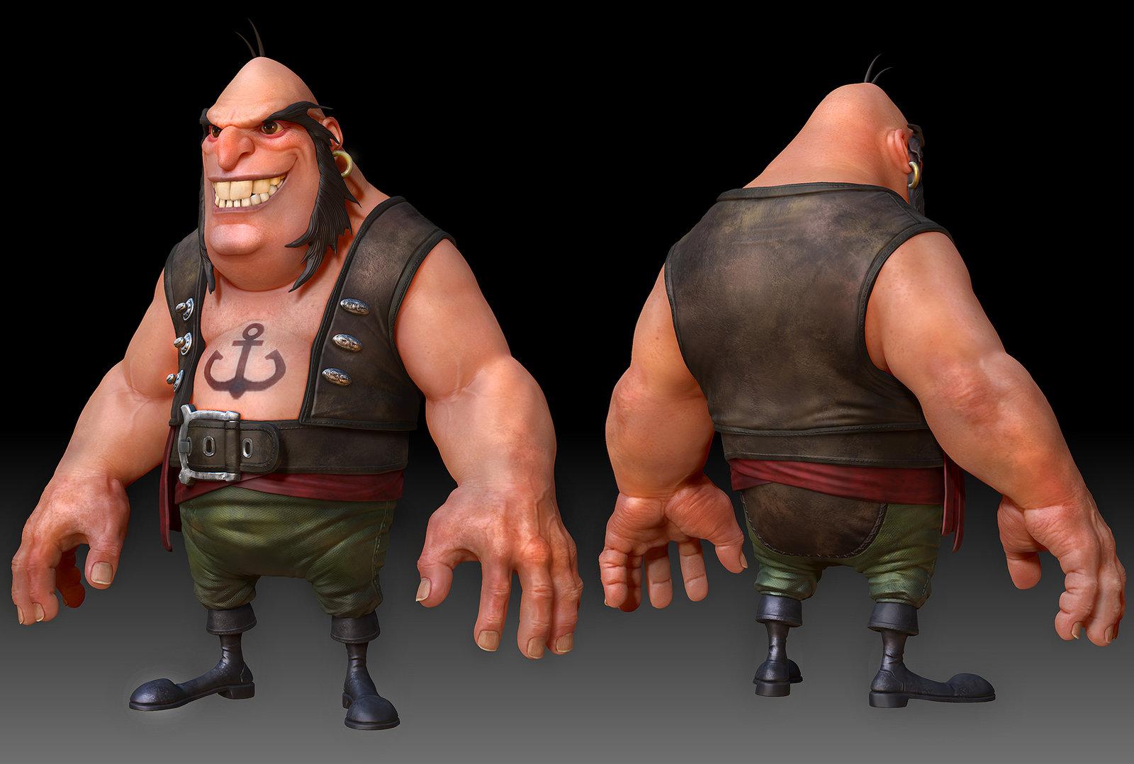 ZBrush render of Black Jack