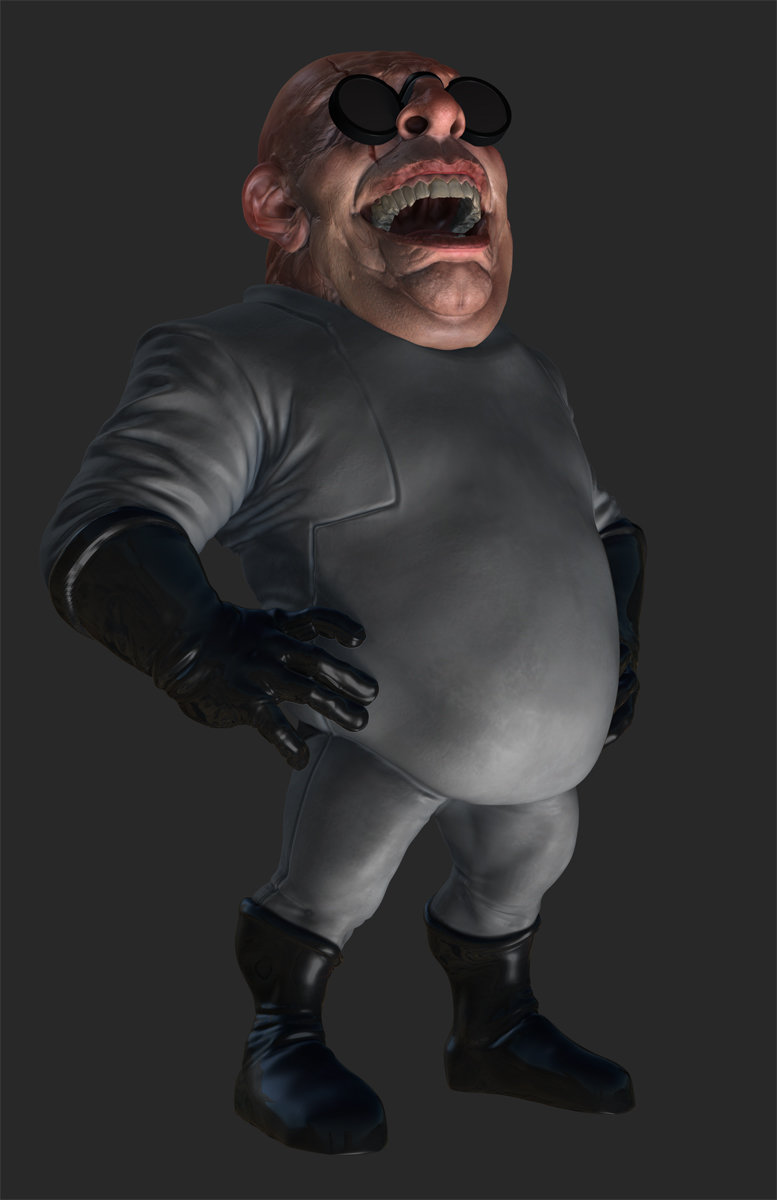 ZBrush render of Eat3D Creepy Doctor, FIll light