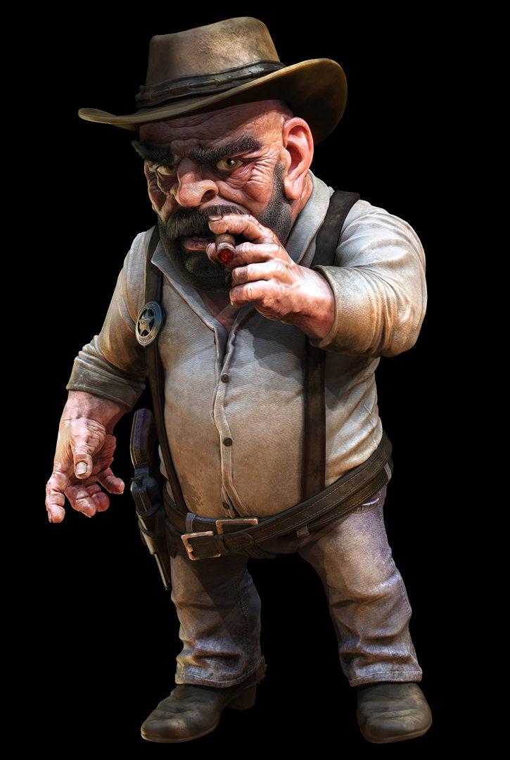 ZBrush render of Eat3D cowboy