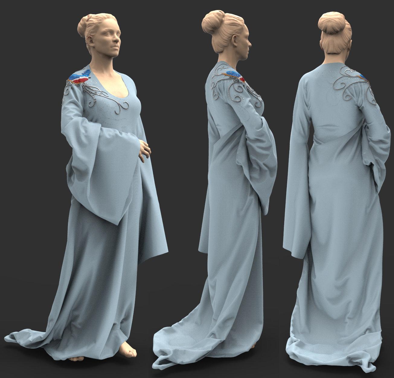 Marvelous Designer cloth with zbrush nanomesh stitching