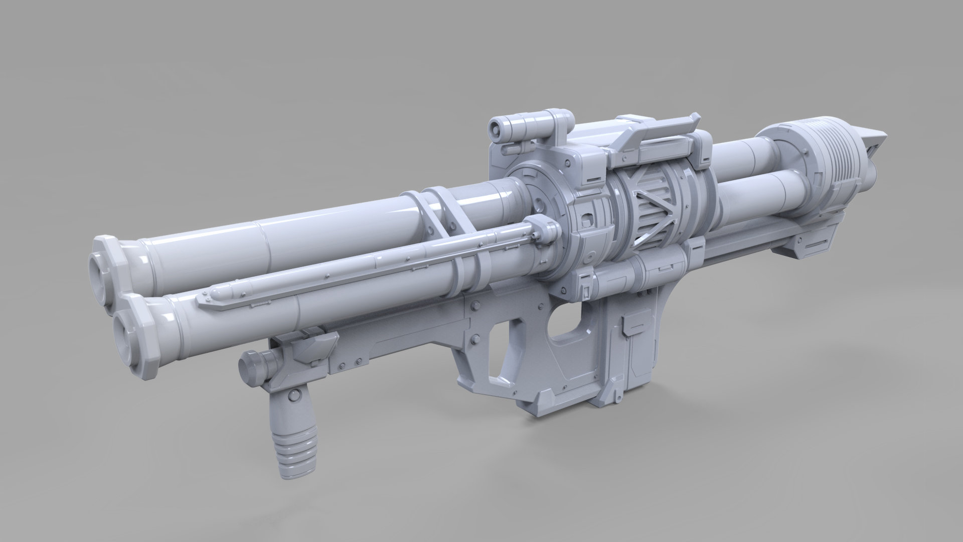 ArtStation - Halo Reach: Rocket Launcher (3d hard surface model