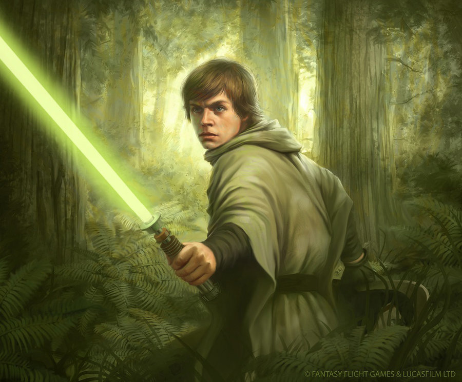 Tony foti star wars tcg endor luke by anthonyfoti d7v5ojb