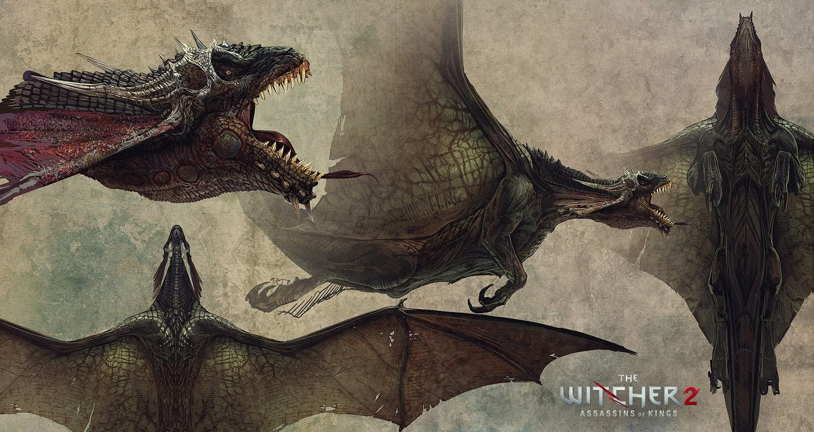 The Witcher 2 dragon concept