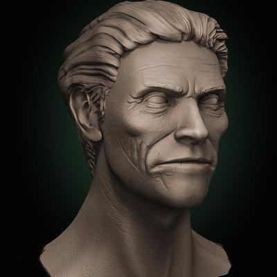 Willem Dafoe 3D portrait.
