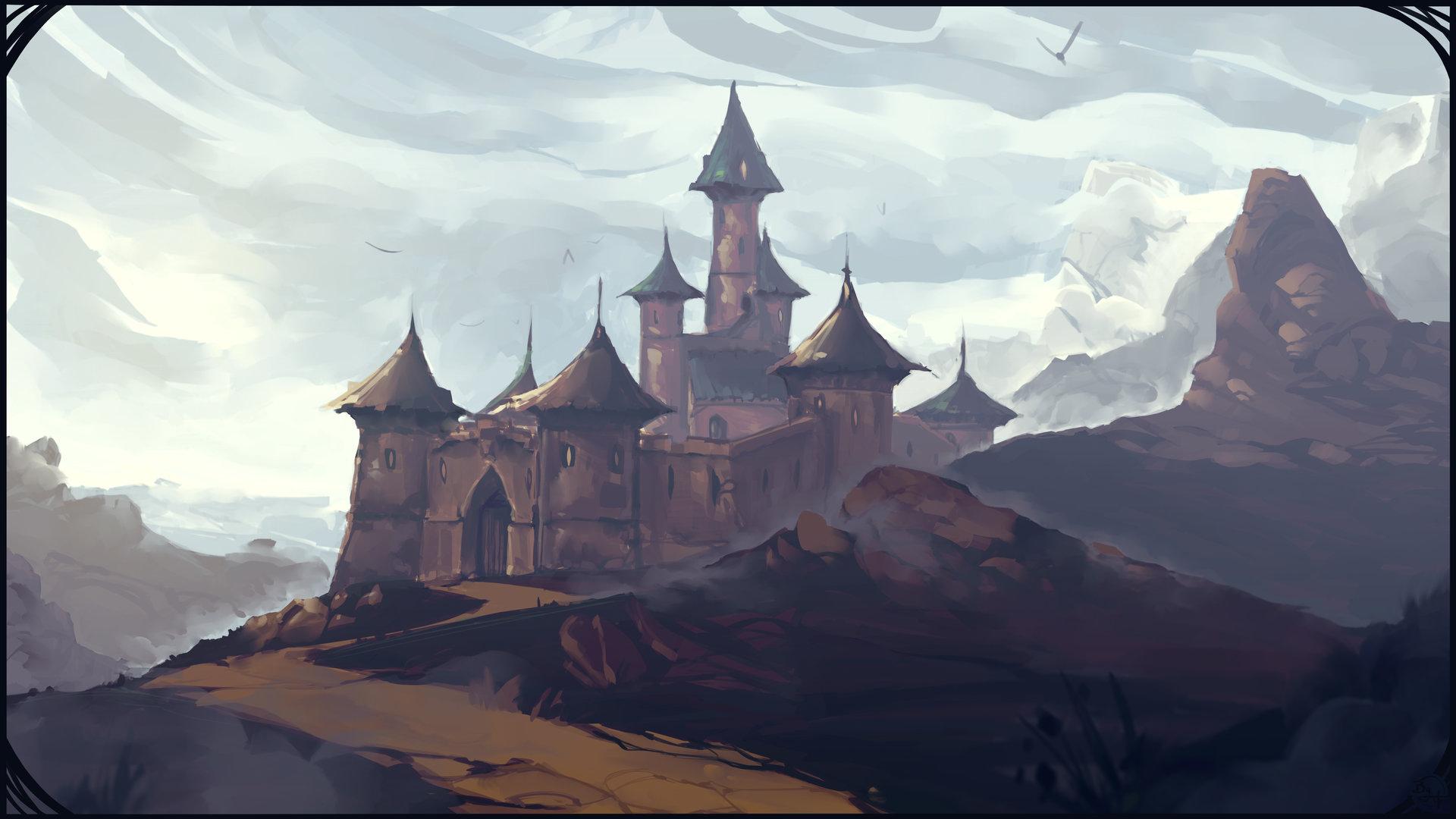 Etienne beschet conceptart chateau environement