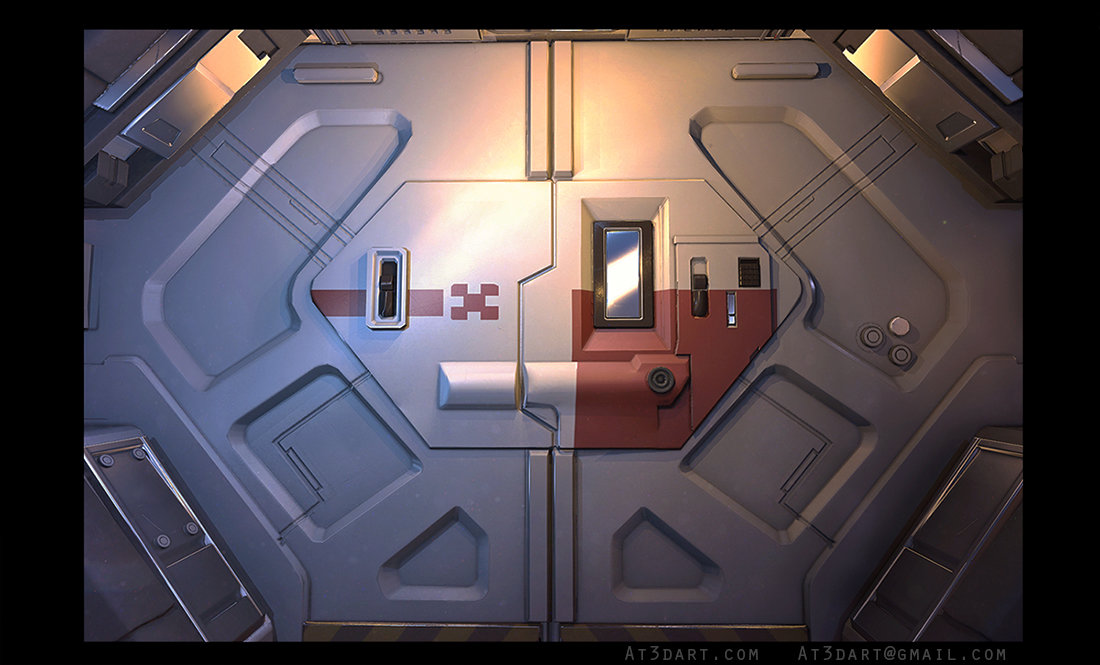 & ArtStation - Sci-fi Door Anthony Trujillo pezcame.com